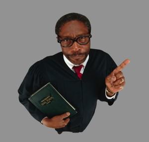 Judge Shaking Finger